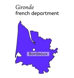 Gironde french department map vector image