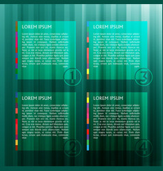 green template for web vector image