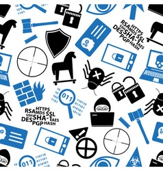 Hacker and computer security theme icons seamless vector