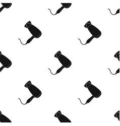 Hair dryerbarbershop single icon in black style vector