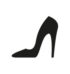heel black icon vector image