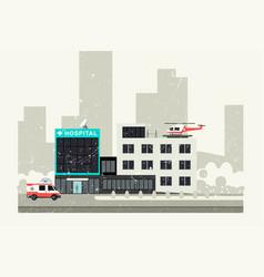 hospital grunge vector image