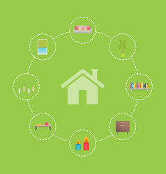 house and icons collection vector image