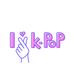 i love k pop vector image