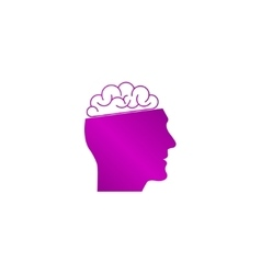 Icon of Human Head and Brain vector image