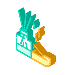 Incense smell isometric icon vector