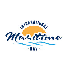 International maritime day letter in flat style vector