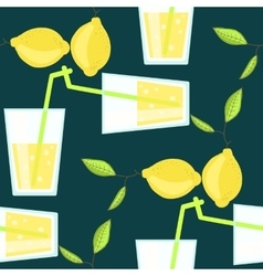 Lemonade cocktail seamless pattern with vector