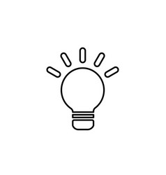lightbulb line icon design black on white vector image