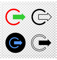 logout eps icon with contour version vector image