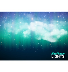 Magic Fabulous Night Sky with Clouds and Realistic vector
