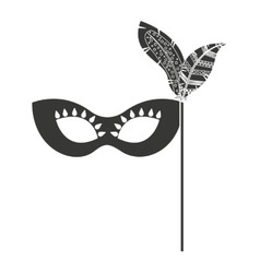 Mask with feathers isolated icon design vector