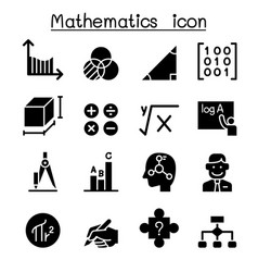 Mathematics icon set vector