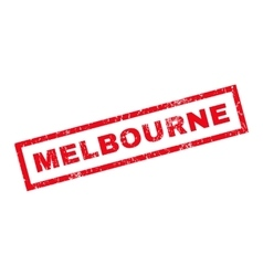 Melbourne Rubber Stamp vector image