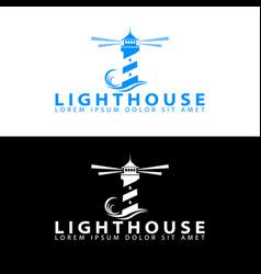 modern simple lighthouse logo vector image