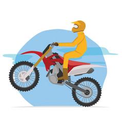 Motocross racer ready for jump vector