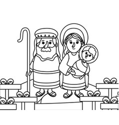 nativity scene cartoon vector image