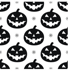 Pattern with black pumkins vector