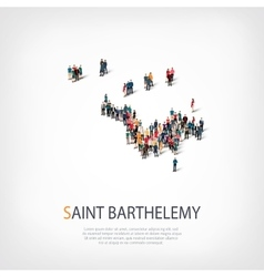 people map country Saint Barthelemy vector image