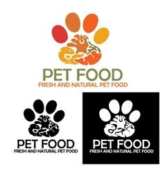 Pet food logo vector