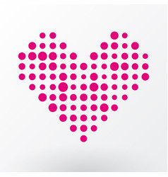 pink heart of the small dots vector image