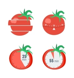 Pomodoro timer concept vector image
