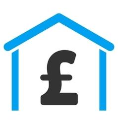 Pound Garage Flat Icon Symbol vector
