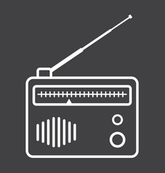radio line icon fm and communication vector image