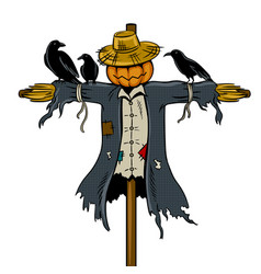 Scarecrow pop art vector