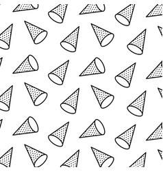 seamless pattern with rhombus in 3d style memphis vector image