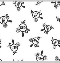 seo analytics icon seamless pattern background vector image