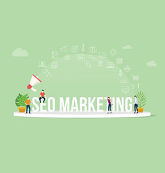 seo search engine optimization marketing concept vector image