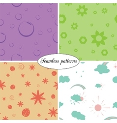 set of colorful seamless patterns of children vector image