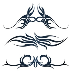 Set of tribal tattoo vector