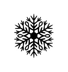 Simple black hand-drawn icon of a snowflake vector