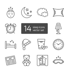 Sleep thin lined icon vector image