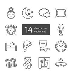 Sleep thin lined icon vector image