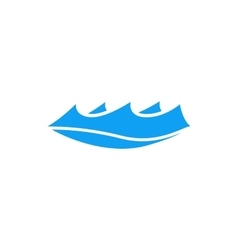 Small wave icon simple style vector