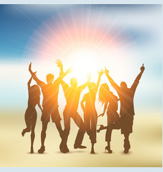 summer party crowd vector image