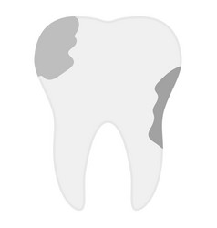 tooth caries icon flat style vector image