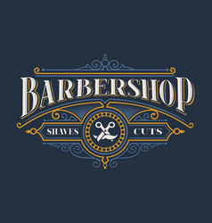 vintage lettering for the barbershop vector image