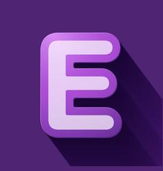 Volume icons alphabet e vector