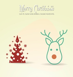 with christmas and christmas tree vector image