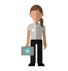 Woman paramedic worker hospital emergency vector