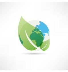 clean planet earth icon vector image vector image