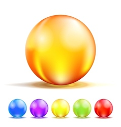 Color Glass Balls vector image vector image