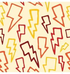 Thunder bolts seamless pattern vector image vector image