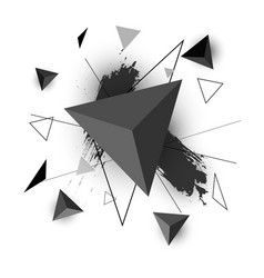 triangle abstract on white background vector image vector image