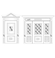 White door on isolated background vector image