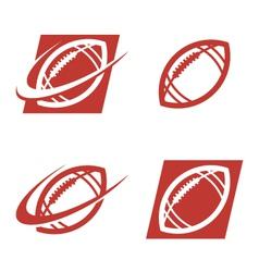 American Football Logo Icons vector image vector image